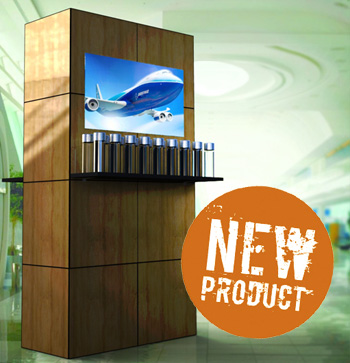Media Kiosk is ideal for product displays and video playing